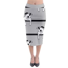 Pit Bull T-Bone Midi Pencil Skirt