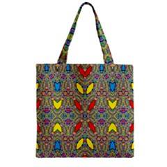 Spice One Zipper Grocery Tote Bag