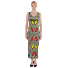 Spice One Fitted Maxi Dress