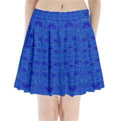 Ocean Spark Pleated Mini Mesh Skirt