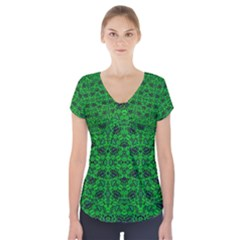 Shape (9)hjjttrrfrr Short Sleeve Front Detail Top