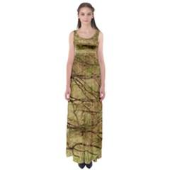 Camo Empire Waist Maxi Dress