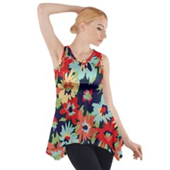 Alexa Floral Side Drop Tank Tunic