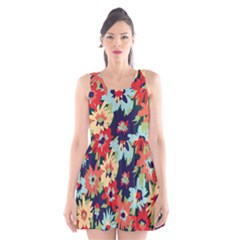 Alexa Floral Scoop Neck Skater Dress