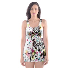 Owl Tree Skater Dress Swimsuit