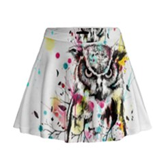 Owl Tree Mini Flare Skirt