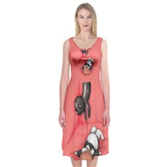 American Horror Plushie Midi Sleeveless Dress