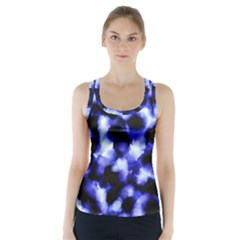 Blue Watercolor Racer Back Sports Top