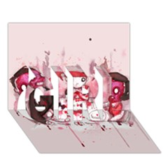Give Us This Day GIRL 3D Greeting Card (7x5)