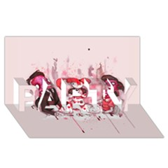 Give Us This Day PARTY 3D Greeting Card (8x4)
