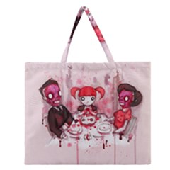 Give Us This Day Zipper Large Tote Bag