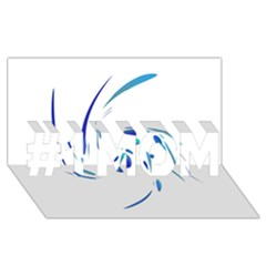 Blue twist #1 MOM 3D Greeting Cards (8x4)
