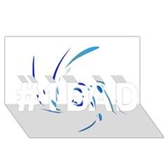 Blue twist #1 DAD 3D Greeting Card (8x4)