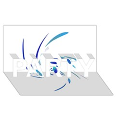 Blue twist PARTY 3D Greeting Card (8x4)