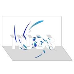 Blue twist HUGS 3D Greeting Card (8x4)
