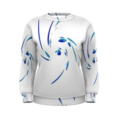 Blue twist Women s Sweatshirt