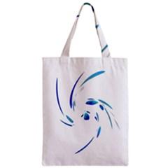 Blue twist Zipper Classic Tote Bag