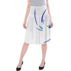 Blue twist Midi Beach Skirt