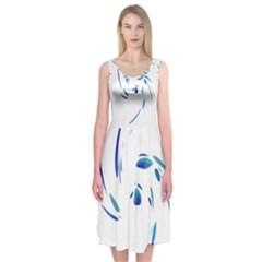 Blue twist Midi Sleeveless Dress