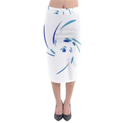 Blue twist Midi Pencil Skirt