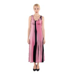 Black and pink Camo abstract Sleeveless Maxi Dress