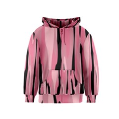 Black and pink Camo abstract Kids  Zipper Hoodie