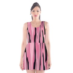 Black and pink Camo abstract Scoop Neck Skater Dress