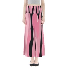 Black and pink Camo abstract Maxi Skirts