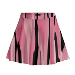 Black and pink Camo abstract Mini Flare Skirt