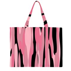 Black and pink camo abstract Large Tote Bag