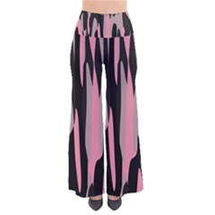 Pink and Black Camouflage Abstract Pants