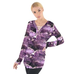 Natural Purple Haze Women s Tie Up Tee