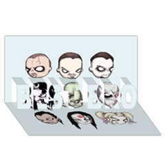 Worst Heroes Ever Best Bro 3d Greeting Card (8x4)