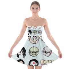 Worst Heroes Ever Strapless Dresses