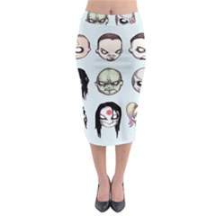 Worst Heroes Ever Midi Pencil Skirt