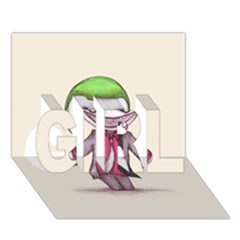 Suicide Clown Girl 3d Greeting Card (7x5)