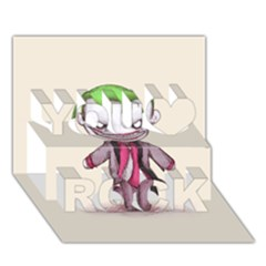 Suicide Clown You Rock 3D Greeting Card (7x5)