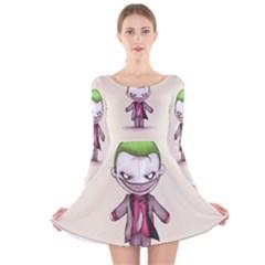 Suicide Clown Long Sleeve Velvet Skater Dress