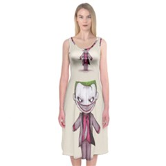 Suicide Clown Midi Sleeveless Dress