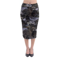 Naturally Rugged & Earthy Midi Pencil Skirt