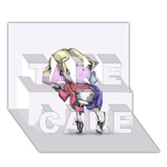 Suicide Harley TAKE CARE 3D Greeting Card (7x5)