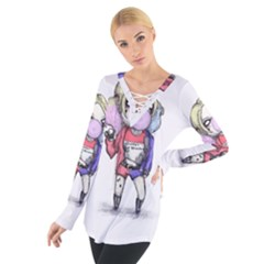 Suicide Harley Women s Tie Up Tee