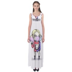 Suicide Harley Empire Waist Maxi Dress