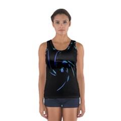 Blue twist Women s Sport Tank Top