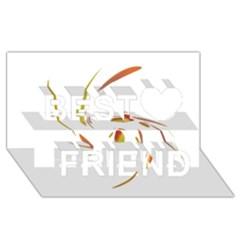 Orange twist Best Friends 3D Greeting Card (8x4)