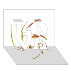 Orange twist LOVE 3D Greeting Card (7x5)