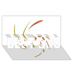 Orange twist BEST BRO 3D Greeting Card (8x4)