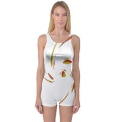 Orange twist One Piece Boyleg Swimsuit