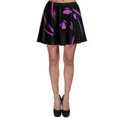 Purple twist Skater Skirt