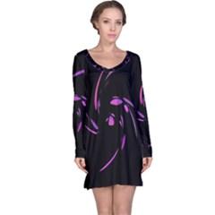 Purple twist Long Sleeve Nightdress